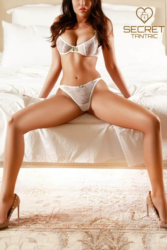 Girl posing seductively