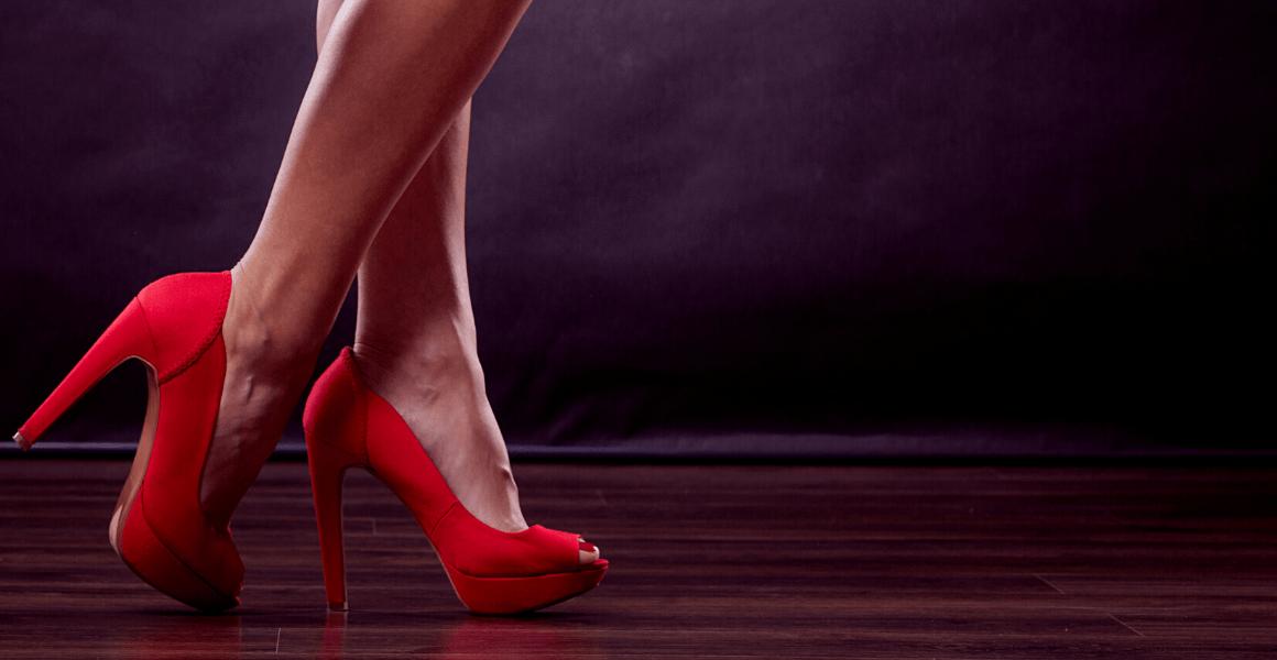 Girl wearing high heels